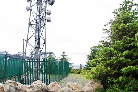 アイルランド - 田舎 - テレビ塔 - 山の上