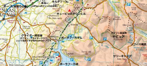 キューピッズタウンヒル周辺地図