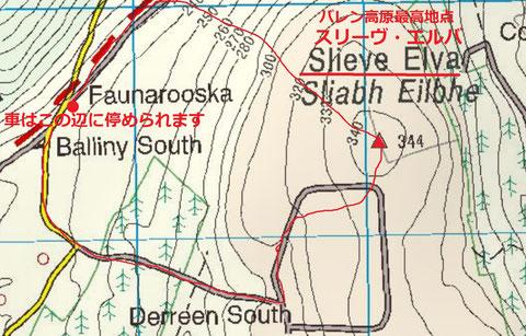 Slieve Elva Map