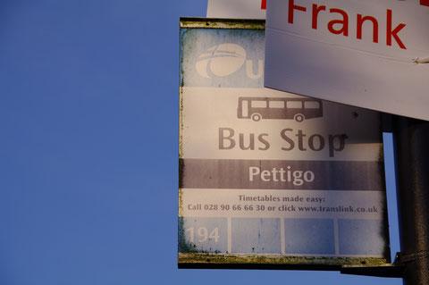 アイルランド バス停