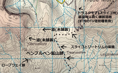 ベンブルベン鉱山跡周辺地図