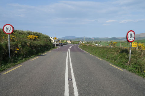 typical road sign on Irish road