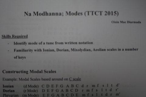 アイルランド伝統音楽 モーダルキー