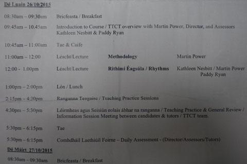 timetable TTCT
