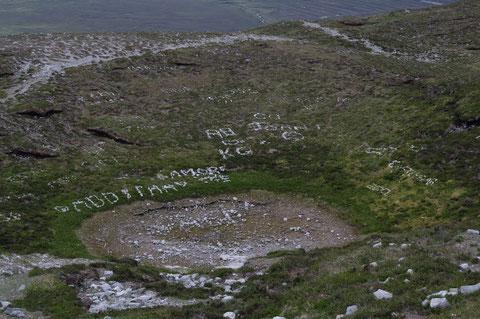 クロー・パトリック石の落書き