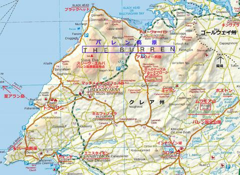 バレン高原地図