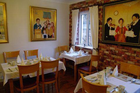 アイルランド ベッドアンドブレックファスト 食堂