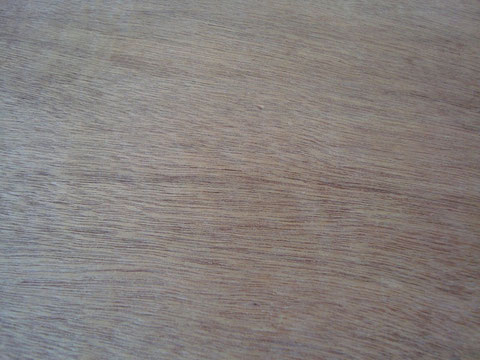 BRindoS (durch und durch Hartholz) Deckansicht (sehr rötlich ähnlich Lauan)