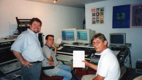 Harry und Werner im Tonstudio Mike MD (Michael Dippon) -Aufnahme: Ich bleib bei Dir - 06.2000 -