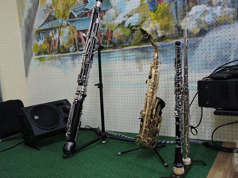 様々な管楽器の写真