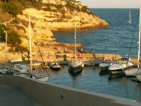 """""""Don Emilio"""" Segel-Yacht von Ferienhaus Mallorca - Villa Hibiscus im kleinen Hafen der Dreifingerbucht"""