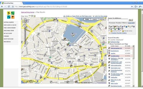 Geocaching, GPS