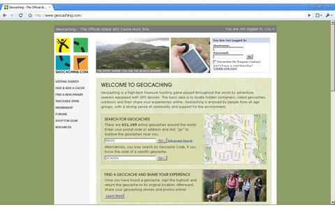 Startseite geocaching.com