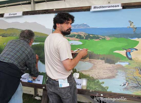 Birdfair:painting on the mural