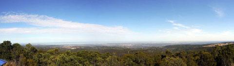 Ausblick auf Adelaide vom Mount Lofty