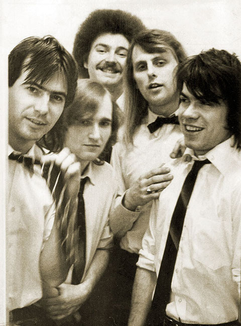 Minisex 1980 > ganz rechts Drummer Michi Pilecky im zarten Alter von 21 Jahren