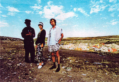 """Holy Tubman und Monah Halvax mit Michael """"Said"""" Pilecky (Autor & Regisseur)"""