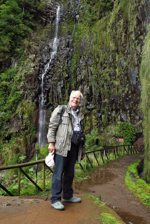 Am Ende der Wanderung vor der Cascada do Risco
