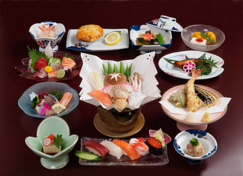やま六鮨5,000円コースの法要のコースの料理内容です。