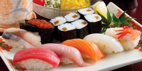 江別のすし店 やま六鮨おすすめのランチメニュー 寿司ランチです。