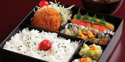 江別のすし店 やま六鮨おすすめのランチメニュー 幕ノ内弁当です。