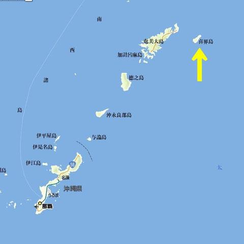 喜界島の位置 [i]