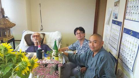 2015年6月22日 左・大重監督、中・佐藤壮広氏、右・筆者