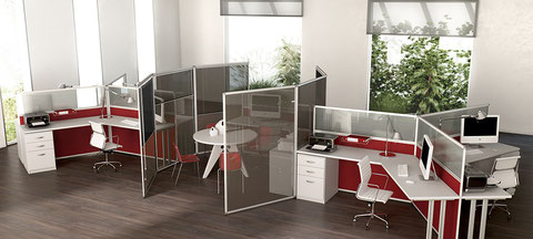 Acrylic glass partition
