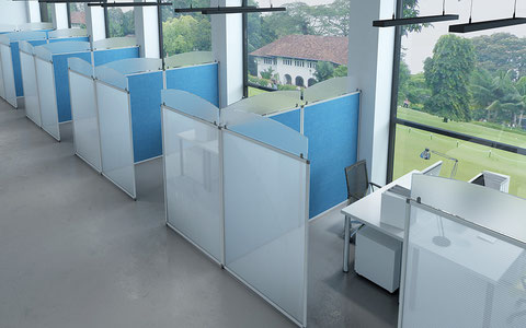 Accessories for partitions