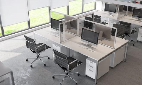 Ecrans de bureau en plexi