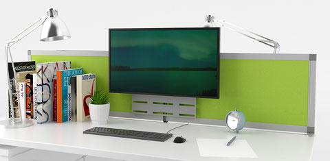 Tisch-Trennwand und Monitor