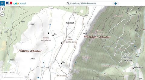 sciallets, trous plateau d'Ambel