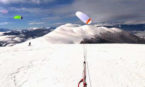 snowkite au Connest près de Grenoble