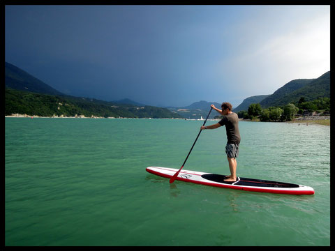 Stand Up Paddle lac de Monteynard, Grenoble, Isère