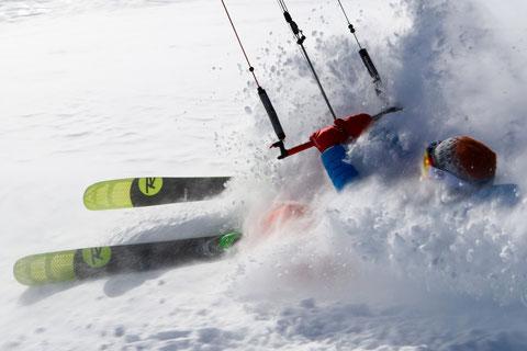 Snowkite Col du Couard, plan des Cavales / Photo Greg Lepez