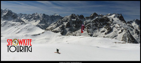 snowkite freeride aux 3 Evéchés