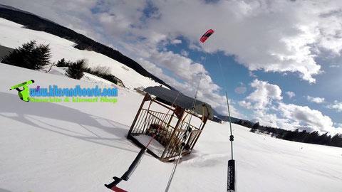 balade entre Autrans et Meaudre snowkite