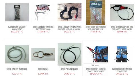 leash, lignes de kitesurf
