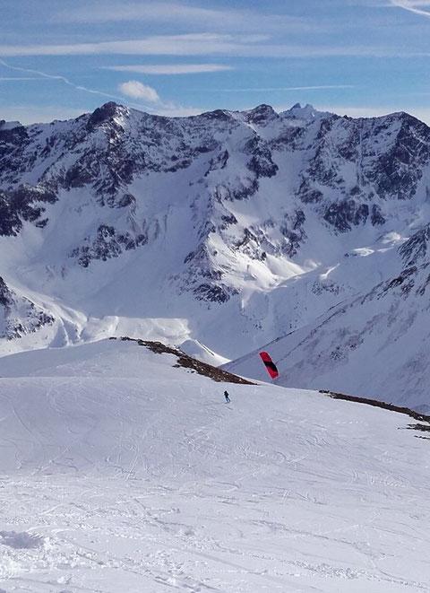 snowkite montée au Pic Blanc du Galibier,  Ludo Arnaud