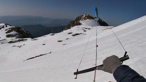 snowkite le Taillefer par la combe de l'Emay