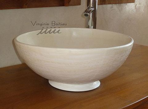 Vasque de salle de bain réalisée par V boitiau iiiii à Candes saint martin