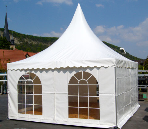 Pagode in weiss, 5*5m ohne Boden