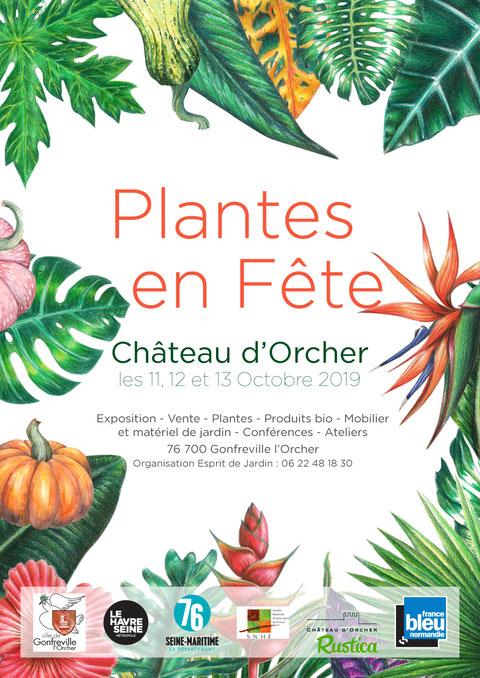 Salon Plantes en Fête 2019 au Château d'Orcher - Normandie