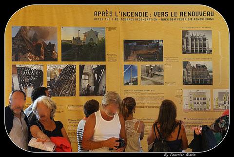 Bâche informative lors de la journée du patrimoine du 16.09.2012 ( 1ere photo en haut à gauche )