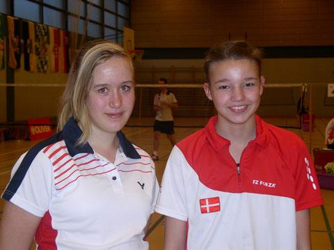 Vor der Siegerehrung: Laura Dammann (GER) und Nanna Christiansen (DEN)