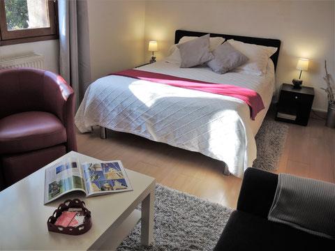 chambre d'hôtes la sapiniere proche d'Amiens Somme Picardie le lit double