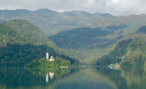 ブレッド湖と聖マリア教会