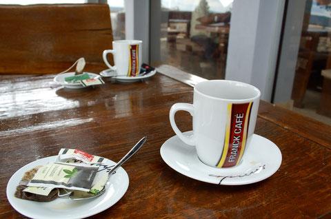 サービスエリアのカフェ 紅茶で一服