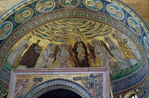 エウフラシウス大聖堂 キリストと12使徒のモザイク画