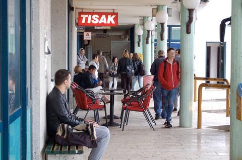 ネトコビッチ(国境の町)のバスターミナル